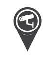 map pointer cctv camera icon vector image vector image