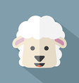 Modern Flat Design Sheep Icon vector image vector image