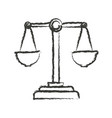 monochrome blurred silhouette of justice scales vector image vector image