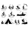 outdoor recreation recreational lifestyle and vector image vector image