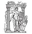 phoebus apollo vintage vector image vector image
