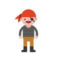 pirate children in halloween costume flat design vector image vector image
