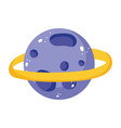 planet saturn solar system cartoon isolated icon vector image vector image