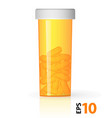 prescription medicine bottles empty and with drugs vector image