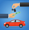 purchase buy sharing car vector image