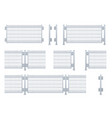 realistic galvanized sheet metal fence vector image vector image