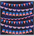 red white blue bunting and fireworks pattern vector image vector image