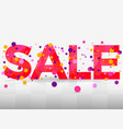 sale banner isolated on white background bright vector image
