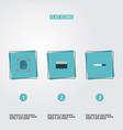 set of crime icons flat style symbols with vector image vector image