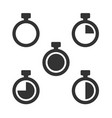 set time and clock icon vector image