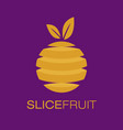 slice fruit logo poster vector image vector image
