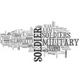 soldier word cloud concept vector image