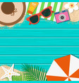 summer holiday background season vacation vector image vector image