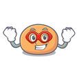super hero mochi character cartoon style vector image