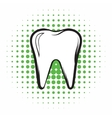 Tooth comics icon vector image vector image