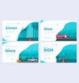 traffic light day urban sign brochure card se vector image