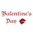 Valentines Day greeting card header vector image vector image