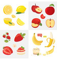 vegetarian food icons in cartoon style fresh vector image vector image