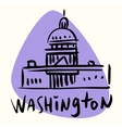 Washington capital USA vector image