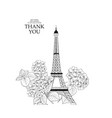 wedding invitation card template eiffel tower vector image vector image