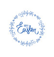 wishes happy easter spring holiday frame vector image