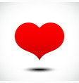 Heart shape symbol design vector image