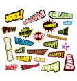 comic word expressions vector image