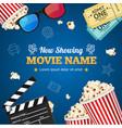 cinema background movie name vector image