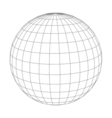 Abstract wireframe sphere globe on white isolated vector image vector image