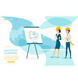 architect planning cartoon landing page vector image