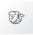 biosphere icon line symbol premium quality vector image