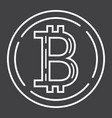 bitcoin coin line icon business and finance vector image vector image