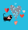 bright love cat vector image vector image