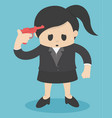 business woman ready to shoot yourself problems vector image