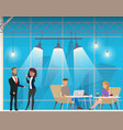 businesspeople in modern coworking open space vector image vector image