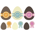 chocolate easter eggs vector image