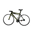 classic bicycle transport hobby sport health vector image