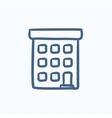 Condominium building sketch icon vector image vector image