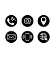 contact icon set in flat style vector image