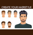create change hairstyle choices for men vector image vector image