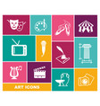 culture and art icons in flat style vector image