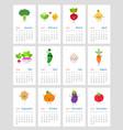 cute monthly calendar 2019 vector image