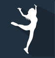 dancing people flat silhouette vector image