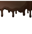 Dark chocolate drips background vector image