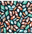 dark seamless pattern color isometric window vector image vector image