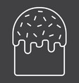 easter cake line icon easter and holiday vector image