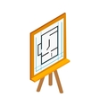 Flipchart with building plan icon vector image vector image