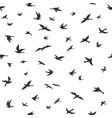 flying bird seamless pattern drawing birds flock vector image