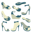 Footwear isolated objects collection vector image vector image