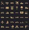 good transport icons set simple style vector image vector image